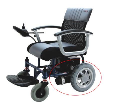 电动轮椅电机在轮椅的位置